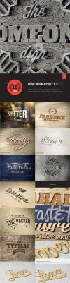 Free Logos Mock-Up Set by themagpac