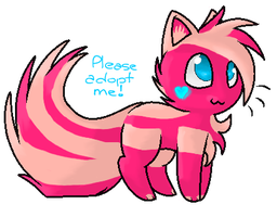 Strawberry Milk Kitten by SocksandStuff