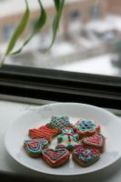 Plate full of cookies by Ania-Riz