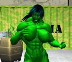 She hulk 2 by WolfsMuscleGirls