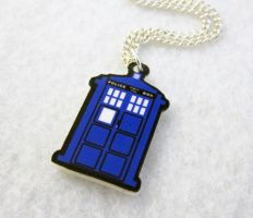 Blue Box Necklace by egyptianruin