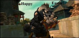 Wolf Boss happy easter by darkenmind66
