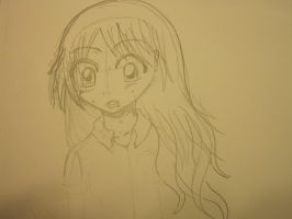 Orihime Inoue Freaking Out Sketch by CrapILostTheGame1999