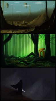 Environment practice thumbnails by AbstractDawn