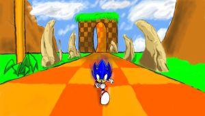 Sonic Green Hill Run by Karvick