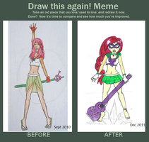 Sailor OC before and after by EclecticNerd