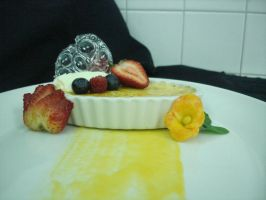 Passion Fruit Creme Brulee by EzmasFortune