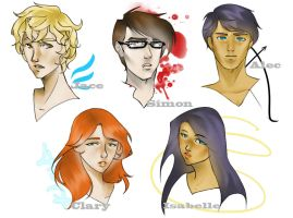 Mortal Instruments busts by Glory-Day