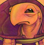 Judgmental Turtle by ursulav