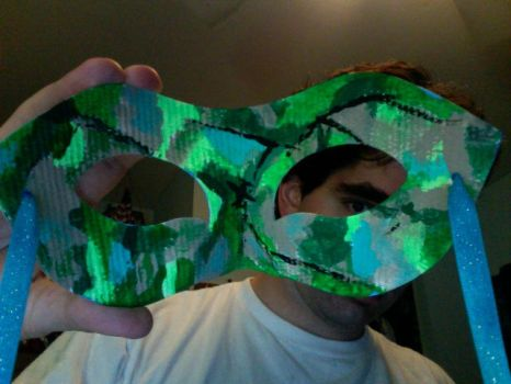 Skydiving Mask (back view) by Un1c0rny
