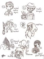 Doodles-Horror Killers by SweetxAriannaxEngel