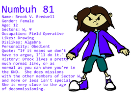 Numbuh 81 Reference by Brookreed