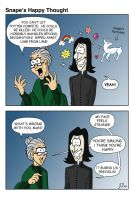 Snape's Happy Thought by wotchertonks7