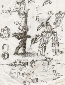 sketchy sketchy dump dump Wuarlv infantry designs. by Pyrotactick