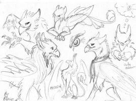 Gryphs: sketches by BlaineMono