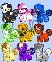 Puppy Adopt sheet 2 by LadyHyena