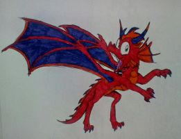 The Daily Sketch #2: Red Draggie by DragonDrawer102