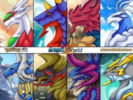 Dragon World - Dragons part 3 by Pokemon-FR