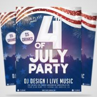 4th Of July PSD Flyer by EmilioRiosDesigns