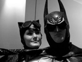 Arkham City Catwoman and Batman (Preview) by BeautifulSynCosplay
