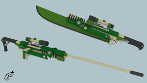 'Gaia's Wrath' - RWBY OC Weapon (Commission) by DenalCC1010