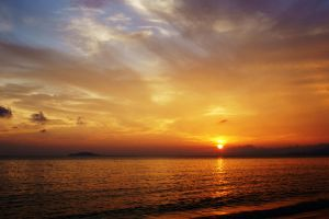 sunset on the sea by JunJun510