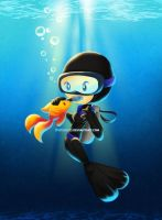 Susana the Scuba Diver by Thiefoworld