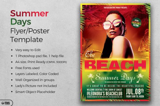 Summer Days Flyer Template by Thats-Design