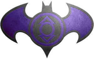 Batman Indigo Lantern Metalic Logo by KalEl7