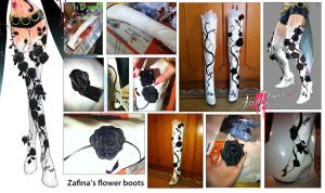 Zafina Boots Collage by AuraRinoa