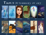 2014 Summary Of Art by TamHorse