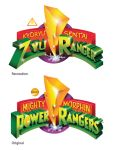 Zyuranger logo MMPR style by TRice01