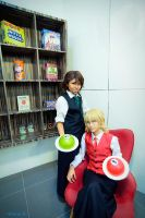 Tiger and Bunny - Waiter by hana-bira