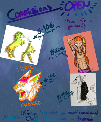 Commissions!! OPEN by Demoarty