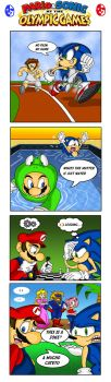 Mario and Sonic olympic by XAMOEL