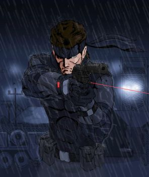 Solid Snake - The Philanthropists, near finish by DevilBoss