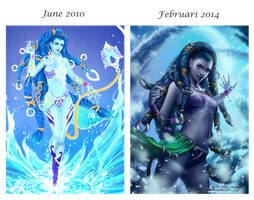 Before and after - Shiva by Zolaida