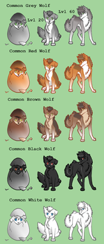 Common Wolf Adoptable Spoilers by ZuttoBlueLobo