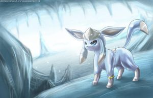 Glaceon- Ice Cave by Deruuyo