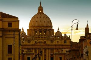 Sunset on St Peter - Roma by Marcusion