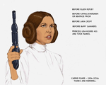TLIID - Carrie Fisher tribute - Leia by Nick-Perks