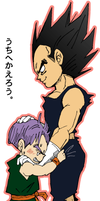 Trunks and Vegeta by piyo119