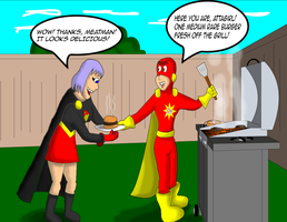 Meatman barbecues for Attagirl by garageman45