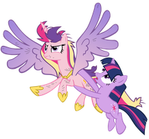 Cadence and Twilight by Bronyboy
