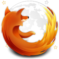 Firefox in the Moon Icon by Phelipefox