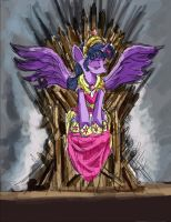 Twilight Sparkle- Princess on the Iron Throne  by TheLivingShadow