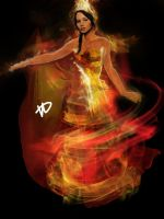 Katniss: The Girl On Fire by xskiesrbluex