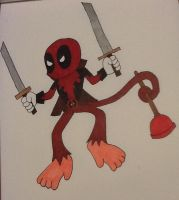 Deadpool as a Sonic Character by ArtKing3000