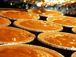 Mini pumpkin pies! by bloody-magpies