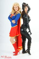Catwoman and Supergirl by Ivy95